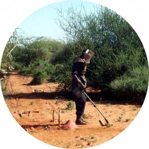 demining mit detektor Äthiopische grenze rd